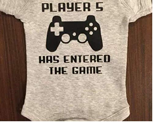 Born Player - Player 5 has entered the game baby one piece third born infant one piece