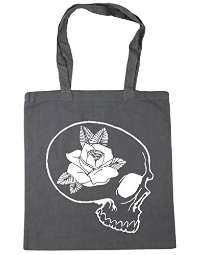 Beach 10 rose and Bag Shopping x38cm Grey HippoWarehouse Tote skull Graphite 42cm Gym litres xqYEvwwZg
