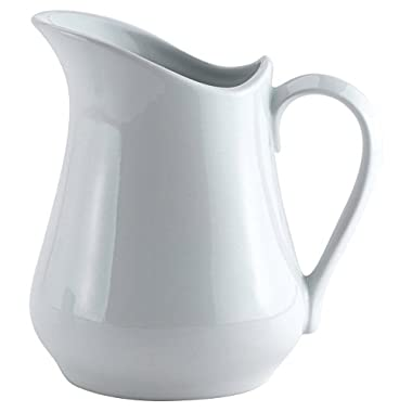 HIC Harold Import Co. NT308-HIC White, 32oz Classic Porcelain Pitcher And Creamer Home Decor Products