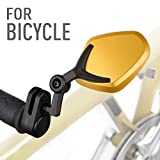 KiWAV Magazi bar end mirrors Petal gold for bicycle handlebar 7/8″ MTB mountain bike road bike BMX