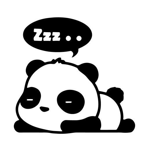 galleon 1 piece black cute panda zzz sleeping bubble cartoon vinyl