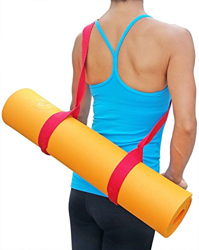 "Clever Yoga Mat Strap Sling Adjustable Made With The Best, Durable Cotton Comes With Our Special ""Namaste"" (6 Colors to Choose From, 66in and 85in)"