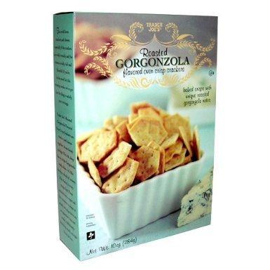 2 Pack Trader Joe's Roasted Gorgonzola Flavored Oven Crisp Crackers