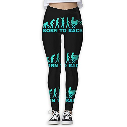 LEDF PANTS Evolution and Motorcycles Women's Prolific Health Fitness Power Flex Yoga Pants Leggings (Evolution Motorcycle Pants)