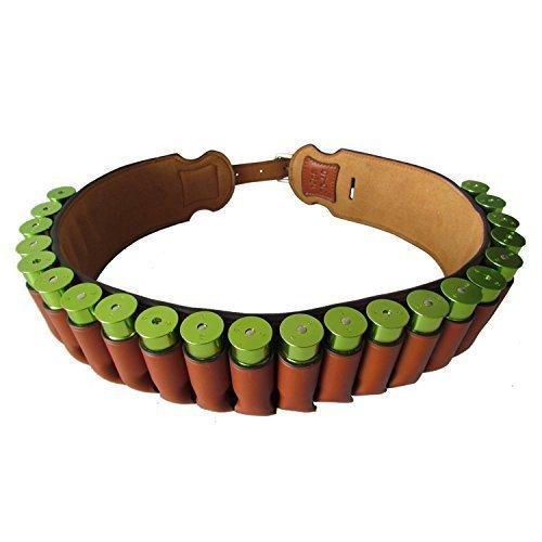 TOURBON Genuine Leather Shotgun Bandolier Cartridge Belt 12 Gauge Shotshell Holder