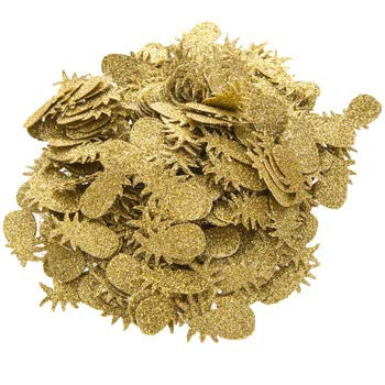tti Luau Pool Beach Birthday Party Decorations Gold Glitter Pineapple Table Scatter ()