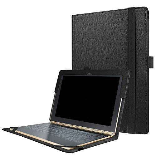 PUBAMALL Funda para Lenovo Yoga Book 10.1 Pulgadas Tablet, con Funda de Cuero Auto Sleep/Wake PU,Cubierta de Cuero de la PU...