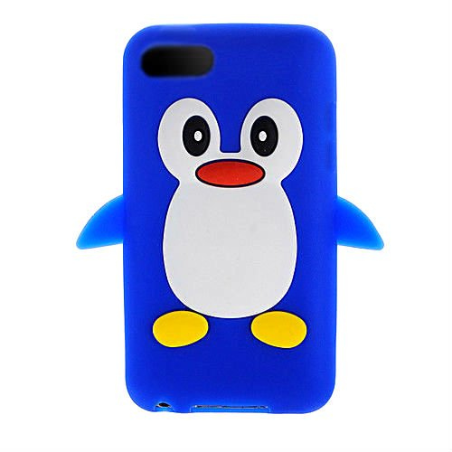 iTitan Royal Blue {Arctic Penguin Bird} Soft and Smooth Silicone Cute 3D Fitted Bumper Gel Case for iPod 4 (4G) 4th Generation iTouch by Apple