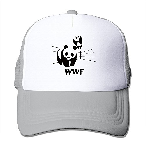 men-women-adjustable-world-wildlife-fund-logo-trucker-cap-youth-mesh-hat-ash