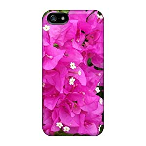 5/5s Scratch-proof Protection Cases Covers For Iphone/ Hot Bougainvillea Fuschia Colored Flowers Phone Cases