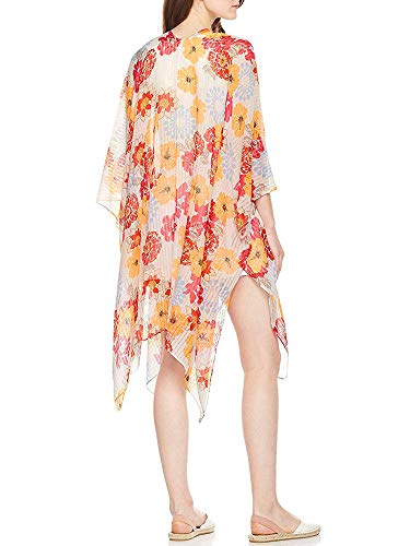 (Moss Rose Women's Beach Cover up Swimsuit Kimono Cardigan with Bohemian Floral Print (Color29))