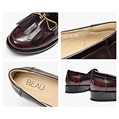 Beau Today Women's Genuine Leather Penny Loafers Driving Moccasins Slip-On Flats Shoes | Loafers & Slip-Ons