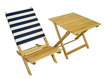 Silla plegable + mesa auxiliar silla de playa Pesca Silla de ...