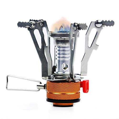 PARTYSAVING Pocket Size Mini Collapsible Camping Stove Burner with Piezo Ignition System, APL1442