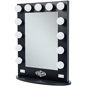 Amazon Com Broadway Lighted Vanity Mirror Gloss Black