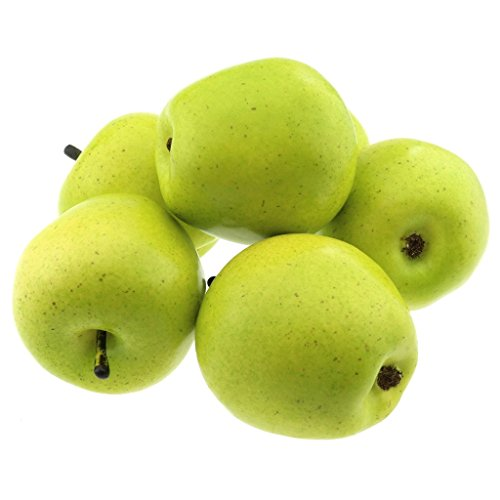 Gresorth 6 Pcs Artificial Green Apple Decoration Fake Fruit Home Party Holiday Decorative Model by Gresorth