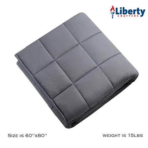 Liberty Crafters - Premium Weighted Anxiety Blanket - ADHD Autism OCD - Sleep...