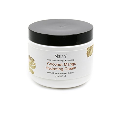 Nalani Luxury Coconut Mango Hydrating Cream for Men and Women - Organic, Chemical Free, Made in US, 6oz