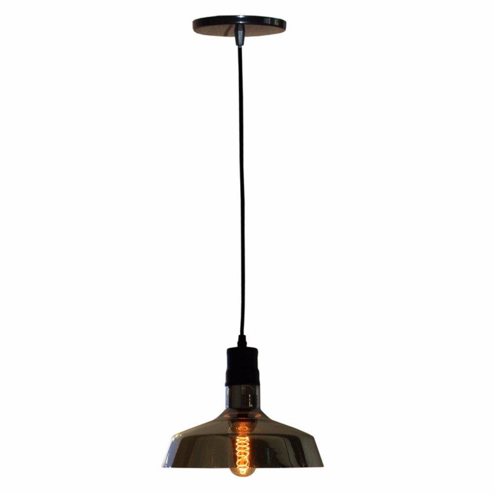 Pendente De Teto Industrial Vidro Espelhado Modelo Haifa Amazon Com