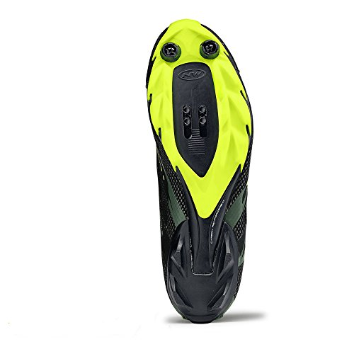 Northwave Black military Fluo 2 Montaña Zapatos Yellow Bicicleta De Scorpius qZtSnTUw