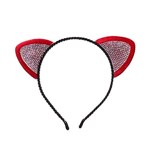 Amazon.com: BESTOYARD Party Headbands Hair Hoop Kitten Headdress Hair Band Cosplay Costume Accessory for Halloween Birthday Carnival Masquerade (Red): Toys ...