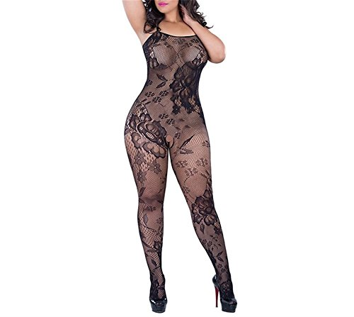 Deksias Crotchless Bodystocking Plus Size Open Crotch Lingerie