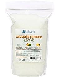 Orange Ginger Bath Salt 3-lbs (48 Ounces) - Epsom Salt Bath Soak With Orange & Ginger Essential Oils & Vitamin C - Enjoy This Refreshing Citrus & Detoxifying Ginger Bath - No Perfumes No Dyes