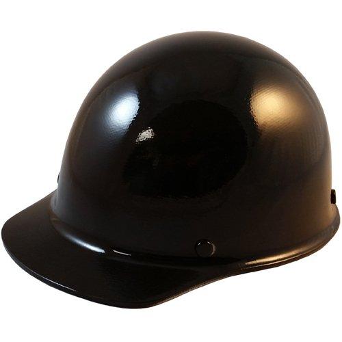 MSA SkullGuard Fiberglass Hard Hat- Cap Style With Staz On Suspension - Custom Black Color