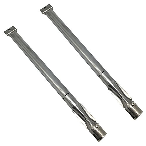 Zljiont Stainless Steel Grill Burners Replacement for Gas Grill Model Kitchen Aid 720-0819, Kitchen Aid 720-0819(2PCS)