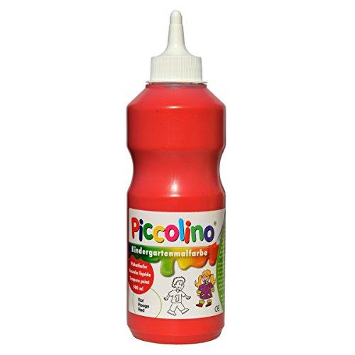 Gouache maternelle liquide - peinture scolaire Piccolino Rouge 500ml