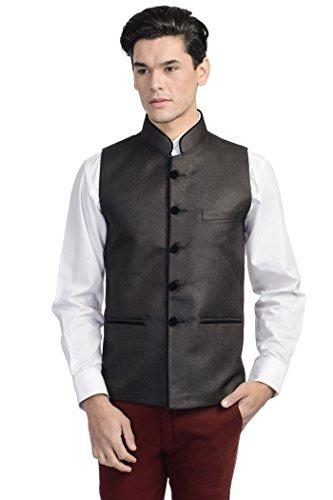 - Wintage Men's Rayon Bandhgala Festive Nehru Jacket Waistcoat Black 36 US / X-Small