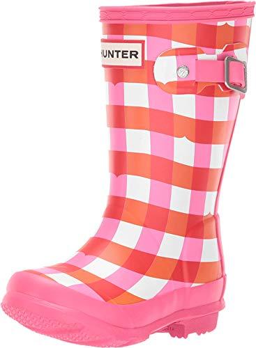 Hunter Kids Unisex Original Kids' Rain Boot (Toddler/Little Kid) Arcade Pink Gingham 12 M US Little Kid ()