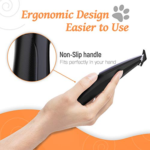 Dog Grooming Clipper, Cat Clipper Pet Hair Trimmer, Rechargeable Wireless Design Low Noise Electric for Hair Around Face, Eyes, Ears, Paw, Rump