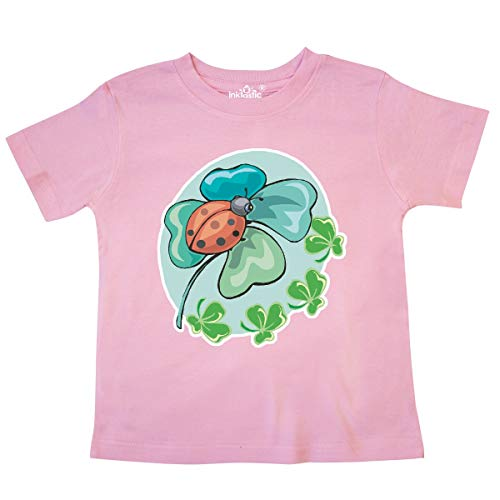 - inktastic - Lucky Lady Bug and Clover Toddler T-Shirt 4T Pink 2c21