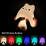 Cute Night Light SCOPOW Portable Silicone Remote