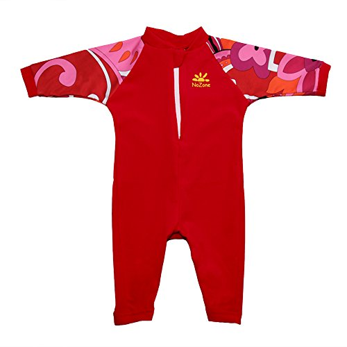 - Nozone Fiji Sun Protective Baby Swimsuit Fun Prints in Red/Brandie, 0-6 Months
