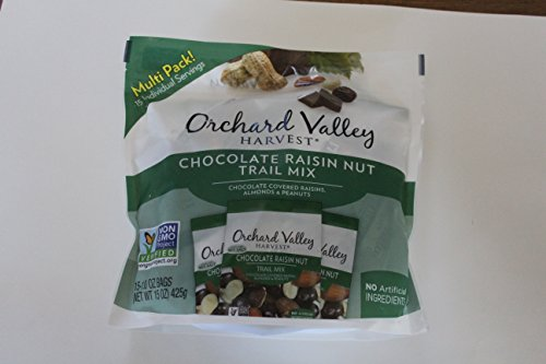 Orchard Valley Harvest Snack Packs - Chocolate Raisin Nut Mix - 15 Ct. Mix Multi Pack Trail Mix, Mixed Nuts, Non-GMO Project Verified, No Artificial Ingredients,15 ounces (15 Individual Packs) ()