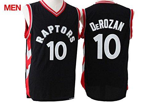 Mens Brand New Jersey, Toronto Raptors #10 Demar DeRozan Black Red S