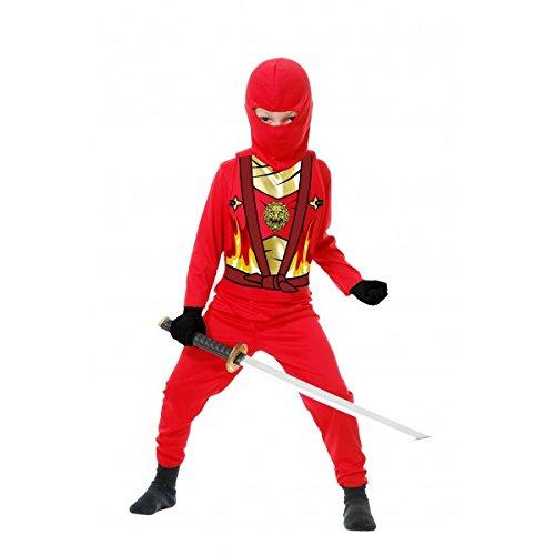 Charades Kid's Child's Ninja Avenger Series 4 Costume Childrens Costume, red, Large