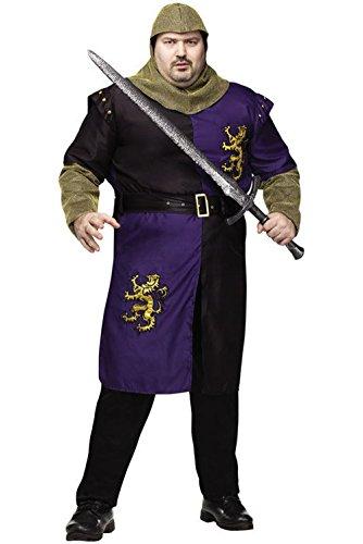 [Mememall Fashion Renaissance Medieval Valiant Knight Plus Size Halloween Costume] (Bavarian Guy Adult Plus Costumes)