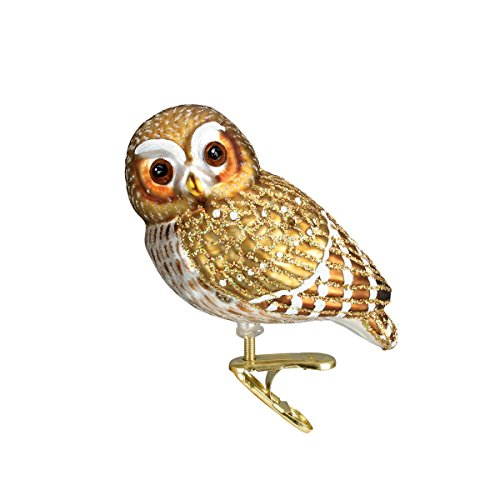 Old World Christmas Ornaments: Pygmy Owl Glass Blown Ornaments for Christmas Tree by Old World Christmas