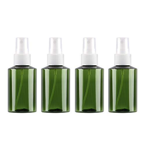 Bottle Face - Spray Mister, Yebeauty 4pcs Fine Mist Spray Bottle Travel Size 3.3oz/100ml Refillable Bottle Makeup Face Spray Bottle Amber Spray Bottles Refillable Container for Essential Oils, Cleaning Products