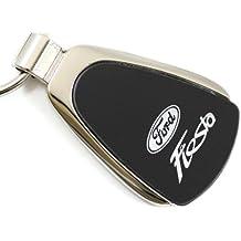 Ford Fiesta Black Teardrop Key Fob Authentic Logo Key Chain Key Ring Keychain Lanyard