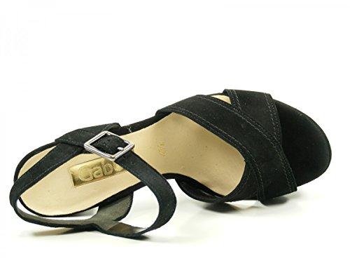 Gabor 61-711-17 Sandalias fashion de cuero mujer Schwarz