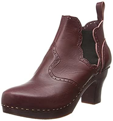 swedish hasbeens Women's Victorian Chelsea Boot,Bordeaux/Bordeaux,7 M US