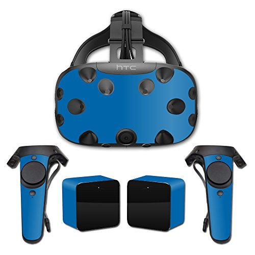 MightySkins Skin For HTC Vive Full Coverage - Solid Blue | Protective, Durable, and Unique Vinyl Decal wrap cover | Easy To Apply, Remove, and Change Styles | Made in the USA by MightySkins