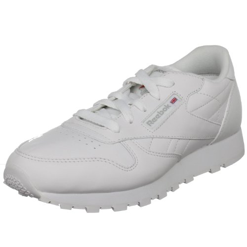 Reebok Classic Leather Sneaker (Big Kid),White,4 M US Big Kid