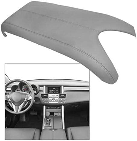 Car Center Console Armrest Leather Synthetic Cover for Acura RDX 2007-2012 Gray