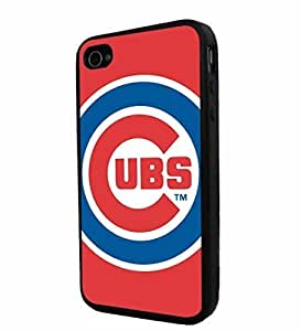 good case Case MLB Chicago Cubs Baseball, Cool iPhone 6 4.7 Smartphone case cover re3m7TijVVa Collector iPhone TPU Rubber case cover Black