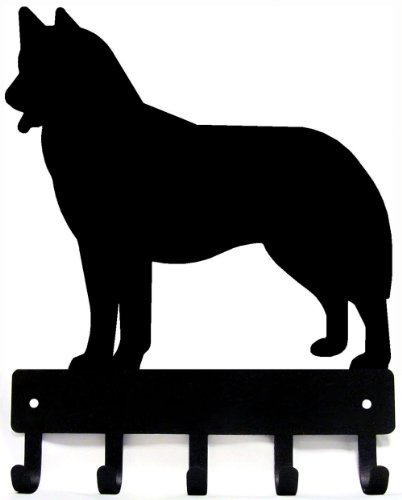 (The Metal Peddler Husky Dog - Key Hooks & Holder - Small 6 inch Wide)
